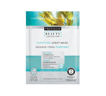 Image of product Freeman Beauty Infusion - Purifying Sheet Mask, 25 ml, Sea Kelp and Probiotics