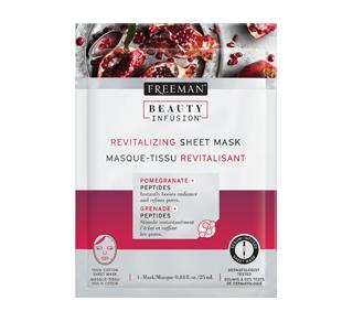 Revitalizing Sheet Mask, 25 ml, Pomegranate and Peptides