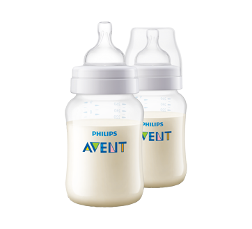 Image 2 of product Avent - Classic+ Baby Bottle, 2 x 260 ml , Slow Flow, 1 Month and Up