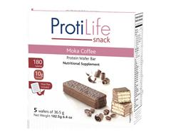 Image of product ProtiLife - Protein Wafer Bar, 5 units, Moka Coffee