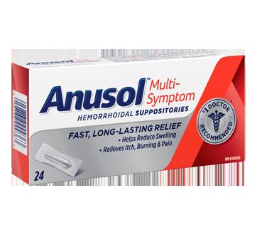 Image of product Anusol - Multi-Symptom Suppository, 24 units