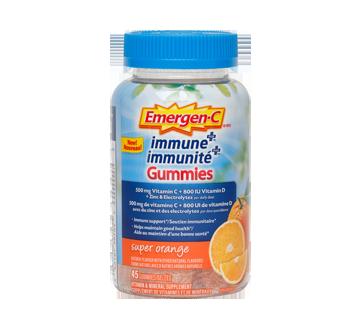 Image of product Emergen-C - Immune+ Gummies Vitamin & Mineral Supplement, 45 units, Super Orange