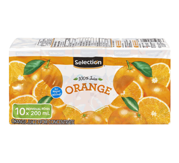 Orange Juice from Concentrate, 10 x 200ml
