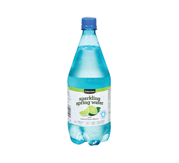 Carbonated Spring Water, 1 L, Lime