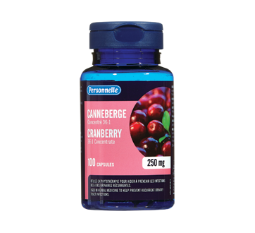 Image of product Personnelle - Cranberry 250 mg, 100 units