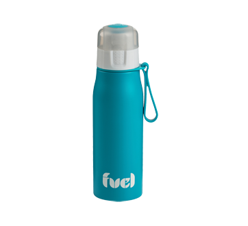 Image 2 of product Trudeau - Fuel Stainless Steel Sport Bottle, 500 ml, Blue