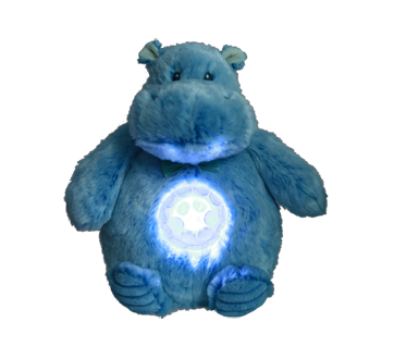 Image 2 of product Danawares - Blue Hippo Light Up Musical Plush, 1 unit