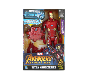 Titan Hero Series Iron Man Figurine, 1 unit, French Version