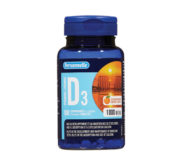 Image of product Personnelle - Vitamin D3 100 ui, 180 units, orange