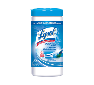 Disinfecting Wipes, 80 units, Spring Waterfall