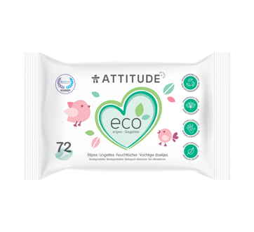 Biodegradable Baby Wipes, 72 units