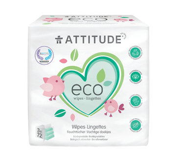100% Biodegradable Baby Wipes, 216 unit, Fragrance-free