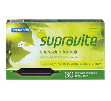 Image of product Personnelle - Supravite Energizing Formula, 30 x 10 ml