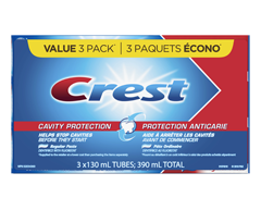 Image of product Crest - Cavity Protection Toothpaste, 3 x 130 ml