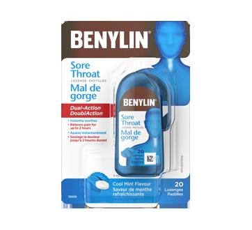 Image of product Benylin - Sore Throat Lozenge, Cool Mint Flavour, 20 units