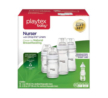 Playtex Nurser with Drop-Ins Gift Set, 34 units