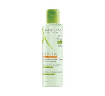 Exomega Control 2 in 1 Anti-Scratching Emollient Cleansing Gel, 500 ml