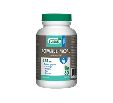 Image of product Laboratoire Suisse - Activated Charcoal 225 mg, 60 units