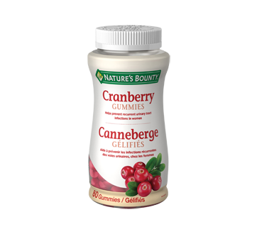 Image of product Nature's Bounty - Cranberry Gummies, 60 units