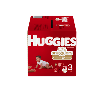 Little Snugglers Baby Diapers Size 3, 76 units
