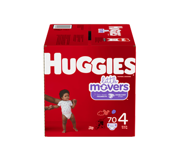 Little Movers Diapers Size 4, 70 units
