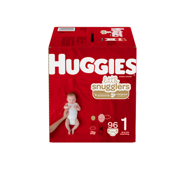 Little Snugglers Baby Diapers Size 1, 96 units
