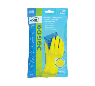 Household Rubber Gloves, 1 unit, Large