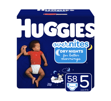 OverNites Overnight Diapers, 58 units, Size 5