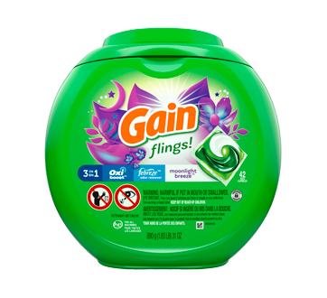 Flings! Plus Aroma Boost Laundry Detergent Pacs, 42 units, Moonlight Breeze scent