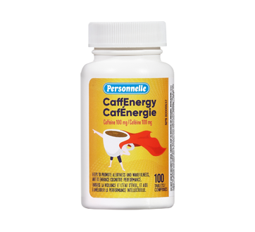Image of product Personnelle - CaffEnergy Tablets, 100 mg, 100 units