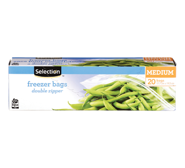 Freezer Bags with Double Zipper, 20 units