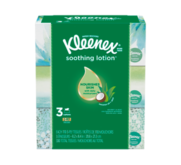 Soothing Lotion Facial Tissues with Coconut Oil, Aloe & Vitamin E, 330 units