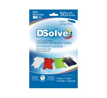 Laundry Detergent Strips, 50 units, Fresh Linen
