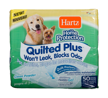Home Protection - Quilted Plus Dog Pads, 50 units