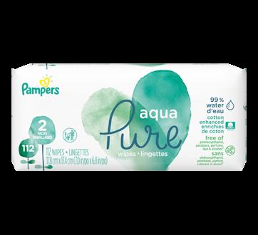 Aqua Pure Baby Wipes, 112 units