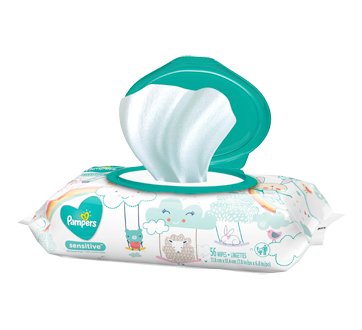 Baby Wipes Sensitive, Perfume Free, 56 units