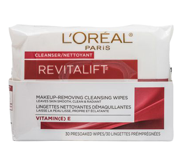 Revitalift Makeup Removing Cleansing Wipes, 30 units