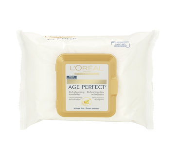 Age Perfect Cleansing Towelettes, 25 units