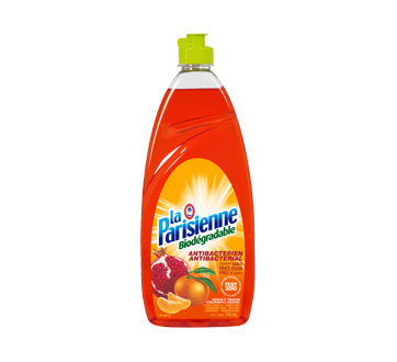 Biodegradable and Antibacterial Dishwashing Liquid and Hand Soap, 740 ml, Pomegranate & Tangerine