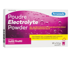 Image of product Personnelle - Electrolyte Powder, 10 x 5,1 g, Tutti Frutti