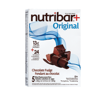 Image of product Nutribar - Meal Replacement Bars, 5 units, Chocolate Fudge
