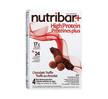 Image of product Nutribar - High Protein Meal Replacement Bars, 4 units, Chocolate Truffle