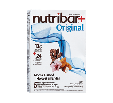 Image of product Nutribar - Meal Replacement Bars, 5 units, Mocha Almond