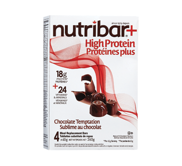 Image of product Nutribar - High Protein Meal Replacement Bars, 4 units, Chocolate Temptation