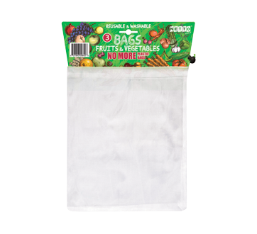 Bags for Fruits & Vegetables, 3 units