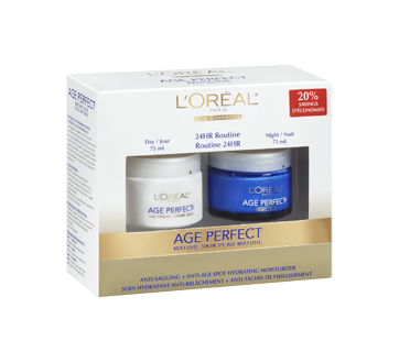 Image 2 of product L'Oréal Paris - Age Perfect Moisture Cream, Day and night, 2 x 75 ml