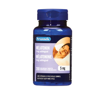 Image of product Personnelle - Sublingual Tablets Melatonin, 5 mg, 200 units