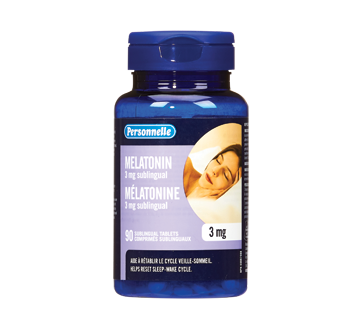 Image of product Personnelle - Sublingual Tablets Melatonin, 3 mg, 90 units