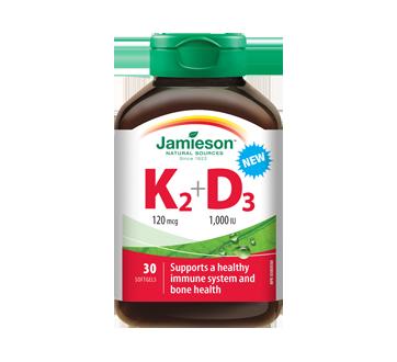 Image of product Jamieson - Vitamin K2 120 mcg + D3 1000 IU, 30 units