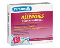 Image of product Personnelle - Liquid Capsule 25 mg, Allergy, 20 units